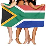 Beach Towel Flag Of South Africa 80'' X 130'' Soft Lightweight Absorbent For Bath Swimming Pool Yoga Pilates Picnic Blanket Towels