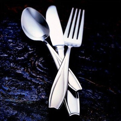 Gorham Tulip Frosted Stainless Flatware 4-Piece Serving Set by ()