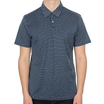 bbc603f3 Sunspel English Stripe Short Sleeve Cotton Jersey Polo Shirt - White/Falcon-M:  Amazon.co.uk: Clothing
