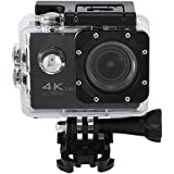 Acouto Action Camera 4K 12MP 30M Waterproof Underwater Sport Camera Vedio Camcorder 170 Degree Wide Angle Wifi Cam with Waterproof Housing Case and Remote Controller Accessories kits (black)