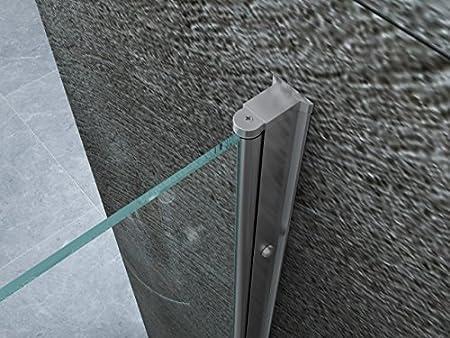100 cm Porta Doccia Per Nicchia Anta Battente Cristallo 8mm Apertura Interna Esterna 70 80 90 100 cm