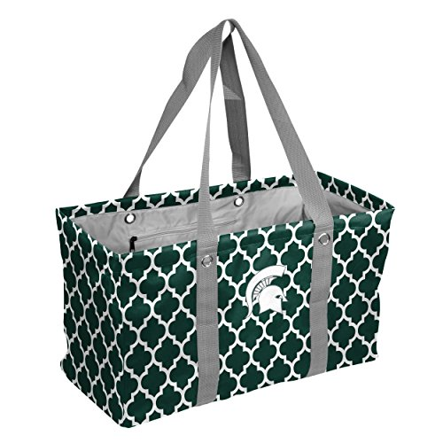 Michigan Tote State (Logo Brands Collegiate Large Collapsible Picnic Tote Michigan State Spartans, Hunter, One Size)