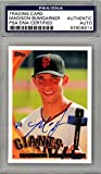 Madison Bumgarner Autographed 2010 Topps Rookie Card #105 San Francisco Giants PSA/DNA #83908814