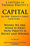 img - for A Critique of: Capital in the Twenty First Century   Where We Are, What Is Next, How the author is Right and Wrong book / textbook / text book