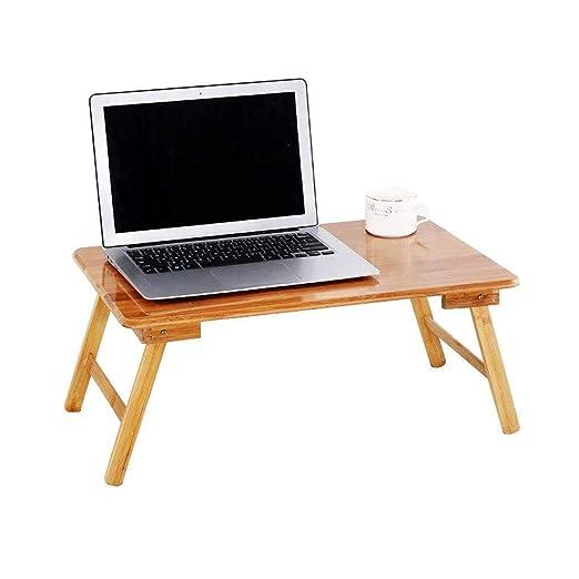 RMJAI Mesa portatil Compacto Tablero portátil de bambú Escritorio ...