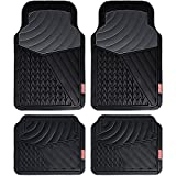 #10: Coleman 4 Piece All-Weather Rubber Floor Mats – Premium Heavy Duty Full Set for Cars, Trucks, SUVs - Journeyman Class - Black