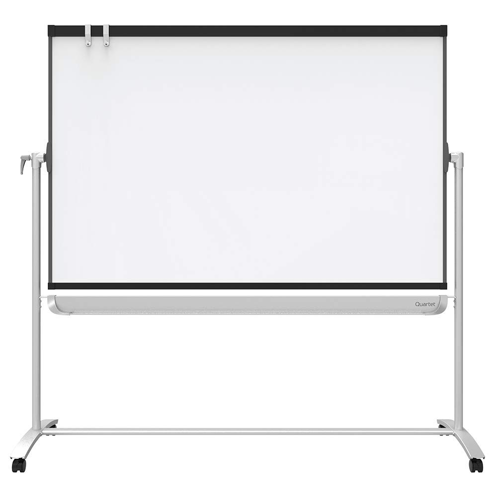 Quartet Easel, Magnetic Whiteboard, 4' x 3', Reversible, Mobile, Flipchart Holder, Prestige 2, Black Frame (ECM43P2) (Renewed) by Quartet