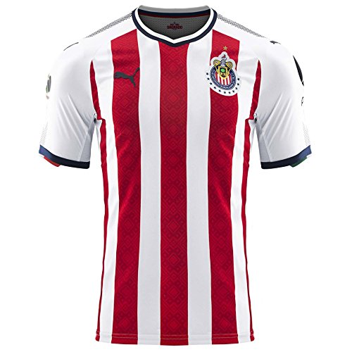 c7a7ed2bb PUMA Men s Chivas Promo Home Jersey 17 18 Red White (XL)