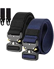 2-częściowy pasek nylonowy Canvas Belt, szybkie zapięcie, styl wojskowy, nylonowy pasek z metalową klamrą, wielokrotnego użytku