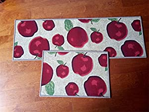Magstonee Non-slip Rubber Backing Kitchen Mat 3 Piece Carpet Rug Set Doormat