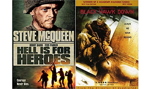 War Classic and Modern - Hell is for Heroes & Black Hawk Down 2-Movie - Black Tom Flynn Ford