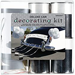 Amscan Traditional Deluxe Wedding Car Decorating Party Kit, Pack of 15