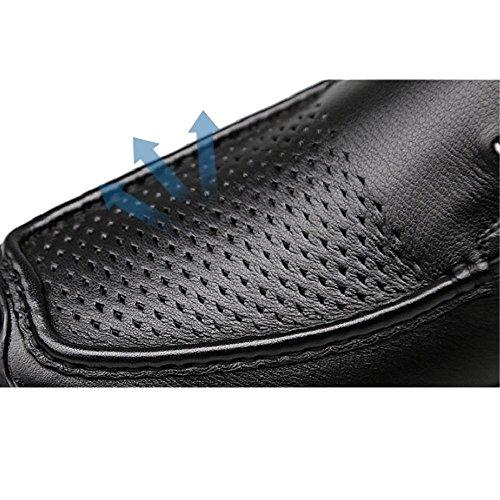 Casual Estaciones Cordones Juventud Black Hombres Moda De Zapatos Cuero Negocios Lyzgf E56qBx