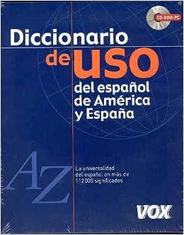 Diccionario de uso del español de América y España CD rom Spes ...