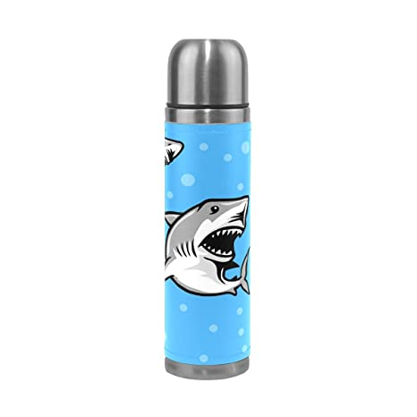 Amazon.com: lorvies gran tiburón blanco SHARK termo de acero ...