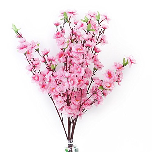 Tinksky 6pcs Peach Blossom Simulation Fl - Pink Artificial Wreath Shopping Results