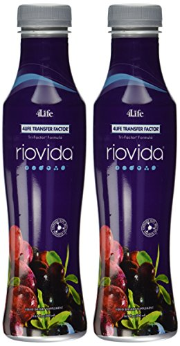 RioVida with Transfer Factor by 4Life - 2 X 500ml. Bottles