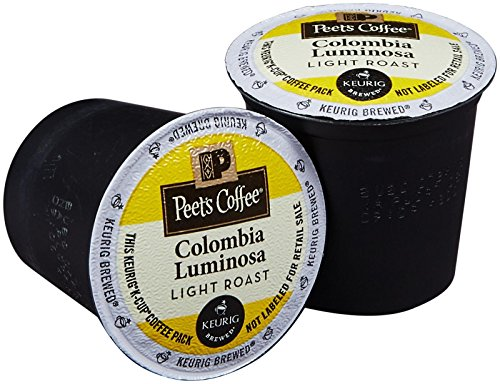 Peet's Coffee Colombia Luminosa Clarify Roast K Cup Coffee for Keurig K-Cup Brewers 40 count