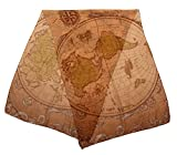 elope Olde World Map Lightweight Scarf for Women
