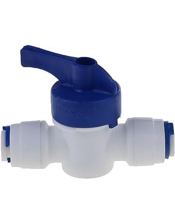 FLAMEER Conexión Rápida 1/4 Válvula De Bola De Tubo De Filtro De Agua