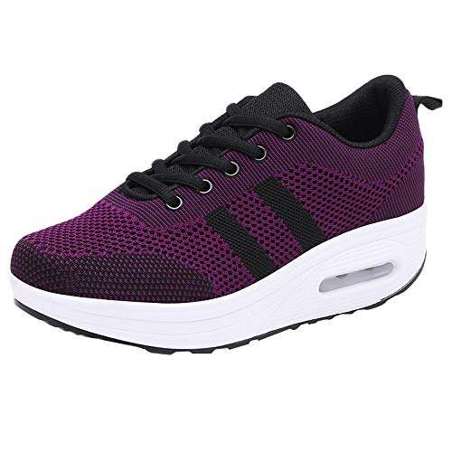 AIMTOPPY, Women's Casual Flying Woven Mesh Breathable Sports Shoes