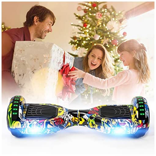 VEVEpower Hover Board, Self Balancing Scooter 6.5″ Hoverboards Two Wheel Electric Scooter Swegway Board LED Light With 2 * 300W Motor for Kids
