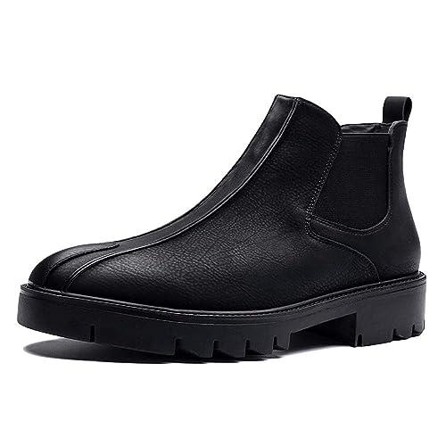 Zapatos Cuero para Hombres Formal Boda Traje Cuero Negro ...
