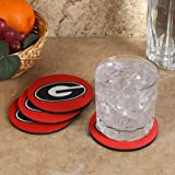 The Memory Company NCAA University of Georgia Official Neoprene Travel Car Coasters (4 Pack), Multicolor, One Size