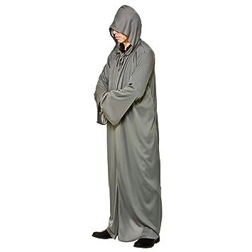 Larga para hombre con capucha gris del traje de Halloween ...