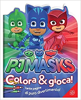 Amazon It Pj Masks Colora E Gioca Ediz A Colori Aa Vv Libri