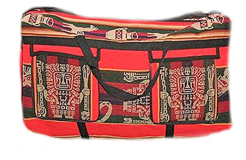 Alpacaandmore Rote stabile Reisetasche Sporttasche Mantastoff 59 x 31 x 23 cm 2 große Außentaschen