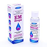 Electrolyte Mineral Water Drops EMDROPS (600 Servings) Boost Hydration, Stop Leg Cramps, Bone Up! Calcium Magnesium Potassium (Not Trace Minerals) NO Sugar NO Sodium 2oz Liquid Electrolyte Concentrate For Sale