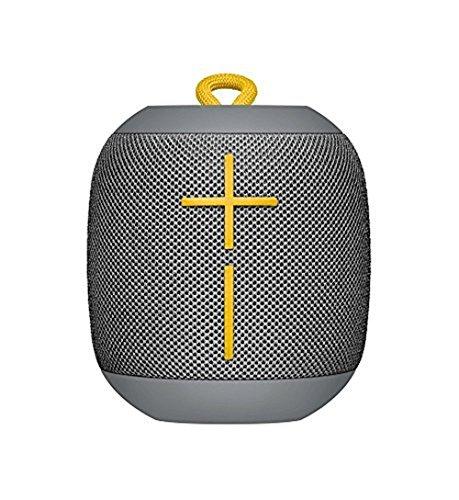 Logitech Ultimate Ears WONDERBOOM Super Portable Waterproof Bluetooth Speaker - Stone Grey(Renewed) ()