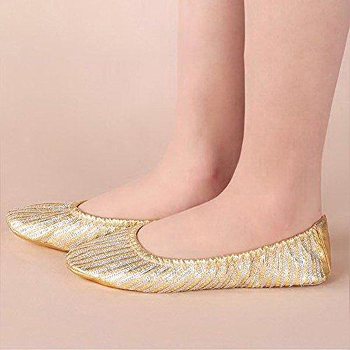 Roseummer Donne Ragazza Tela Danza Del Ventre Scarpe Pantofola Balletto Danza Ginnastica Scarpe Da Ginnastica