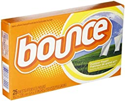 Bounce 36000 Outdoor Fresh Fabric Softener Dryer Sheet (Case of 15 Boxes, 25 Sheets per Box)