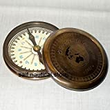 Handmade Nautical Brass Poem Marine Compass Vintage Maritime Reproduction Item