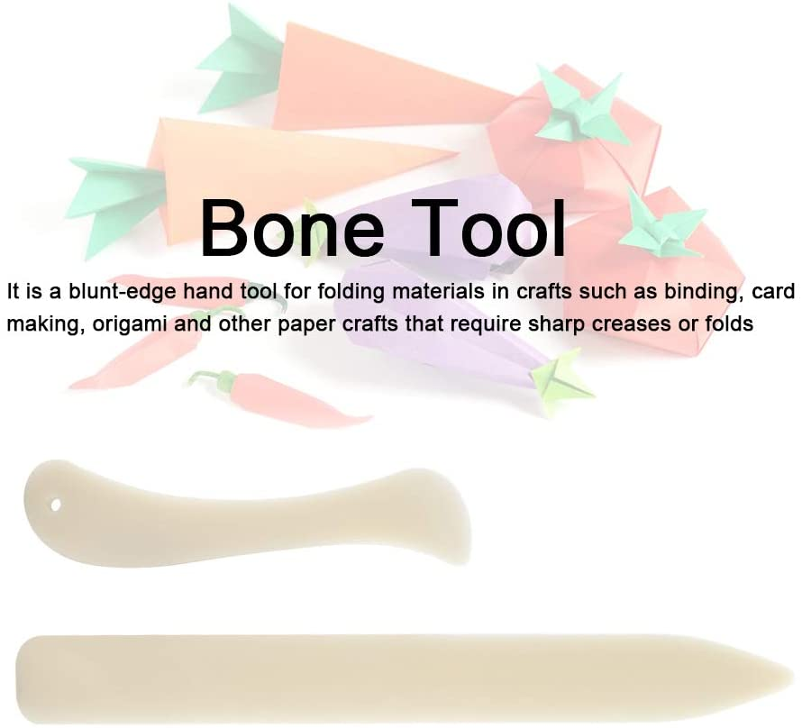 2PCS Bone Folder Paper Creaser Scoring Tool for DIY Paper Leather Crafts Book-Binding Card Making and Office Supplies