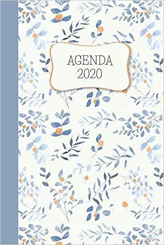Agenda 2020: Flores Azules Planeador Anual Mensual Semanal ...