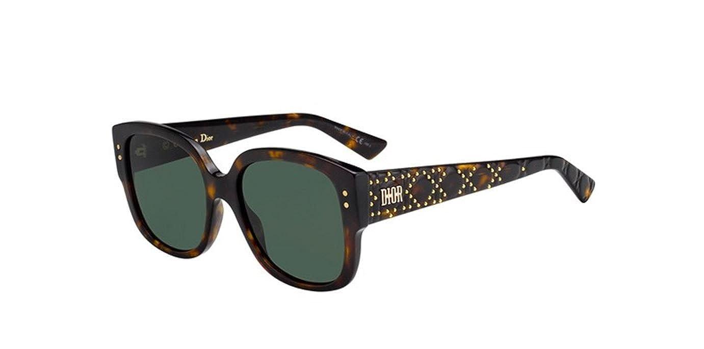 9b799df5750 Amazon.com  New Christian Dior Lady Dior Studs 86 O7 Havana Green  Sunglasses  Clothing