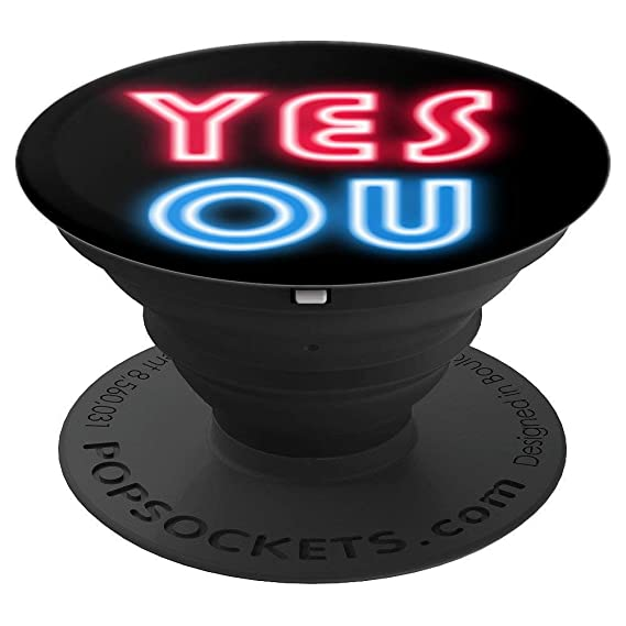 Amazon com: Neon Random YES NO Generator Fun - PopSockets Grip and