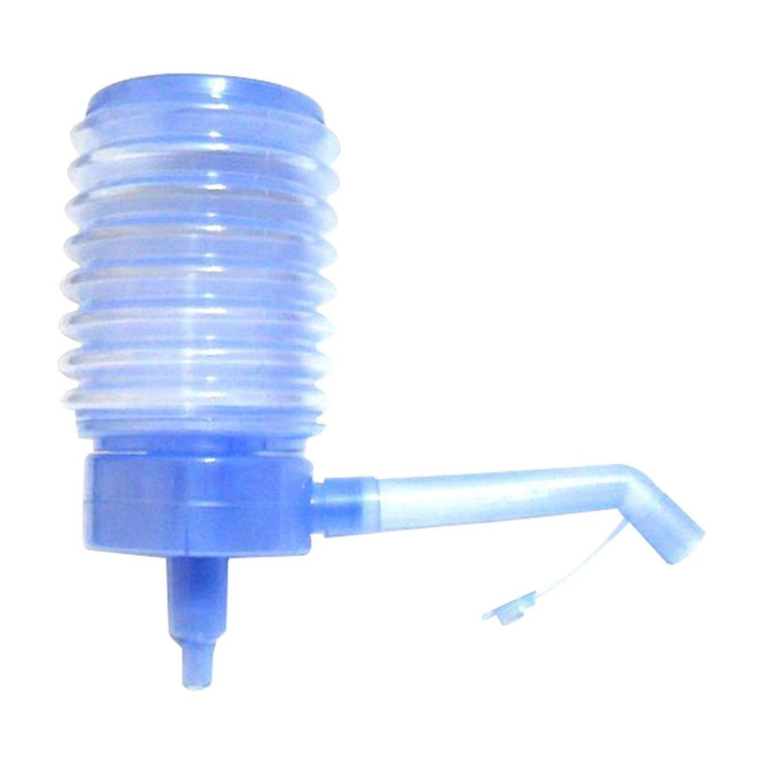 Luwu-Store pratique en bouteille de l'eau potable par pression de la main Pompe manuelle Distributeur Bleu