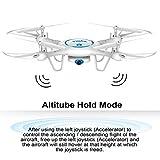Syma-X5UW-Wifi-FPV-Drone-with-720P-HD-Camera-Live-Video-Barometer-Set-Height-HL-SpeedRTF-RC-Quadcopter-White-Bonus-Battery