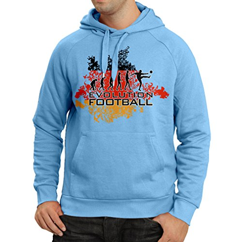 fan products of N4453H Hoodie Football Evolution - Germany (Medium Blue Multicolor)