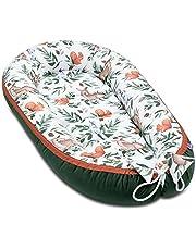 JUKKI® Babynest Comfort VELVET 55 x 100 cm, babybo för nyfödda, babyvårdssäng, babybo säng, gosigt bo för babysäng, babybo – Forest Story