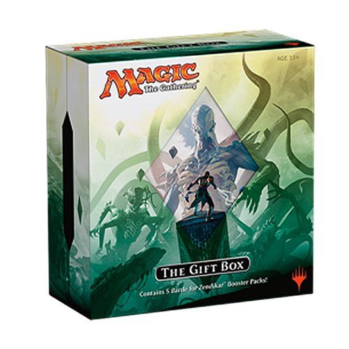 MTG Magic the Gathering 2015 BFZ Battle For Zendikar HOLIDAY Gift Box - 5 booster packs + extras (Zendikar Magic Card)