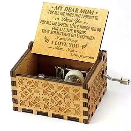 Dad To Daughter Wood Color OUlike Mini Caja de m/úsica de Madera con Grabado /«You Are My Sunshine/»