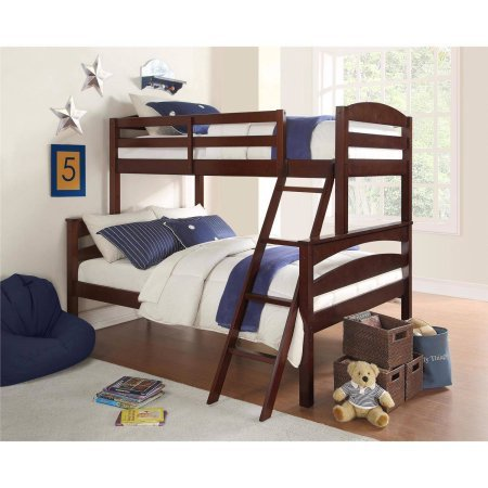 Better Homes and Gardens Leighton Twin-Over-Full Bunk Bed, Espresso from Better Homes & Gardens