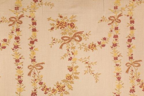- Robert Allen/Beacon Hill Natalie Floral Italian Chenille Tapestry Upholstery Fabric in Aged Hazelnut
