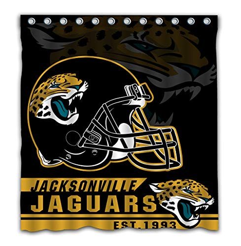 - Felikey Custom Jacksonville Jaguars Waterproof Shower Curtain with Color Bathroom Decoration Size of 66x72 Inches
