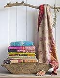 Craft N Craft India Kantha Quilt Vintage Cotton Bed